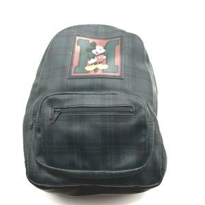 Vtg Disney Backpack Mickey Unlimited Plaid 13 x 12